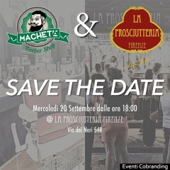 Co-branding con Machete Barber Shop - La Prosciutteria Firenze